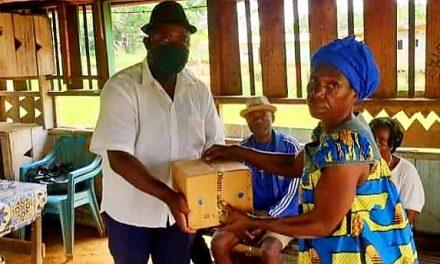 Gabon/Don alimentaire: Les populations du 2e siège du Canton Mbei Medouneu disent merci à Nourredin BONGO VALENTIN.