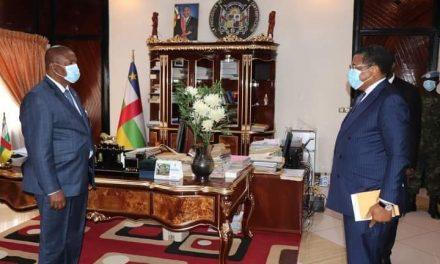 Bangui/Audience délégation CEMAC-BEAC: la situation économique et monétaire de la zone CEMAC présentée au Président Faustin Archange TOUADERA