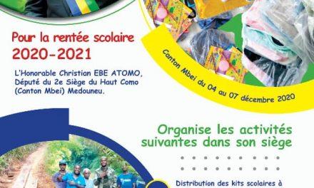 Medouneu/2e siège Canton Mbei Haut Como: le député Christian EBE ATOMO au chevet des populations de sa circonscription électorale