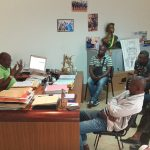 Oyem: La presse locale chez le Maire Christian Abessolo