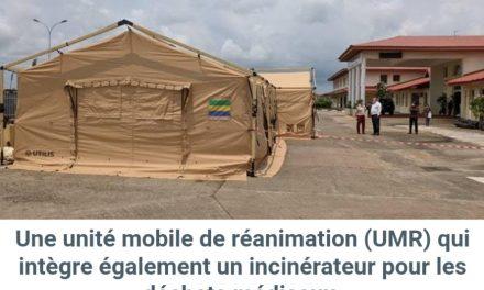Projet franco-gabonais d'aide d'urgence contre la covid: Déploiement d'une unité mobile de réanimation à l'hôpital d'Akanda