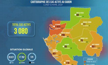 Gabon/Covid-19-Situation épidémiologique du lundi 12 avril 2021: 335 nouveaux cas positifs sur 6 315 tests réalisés