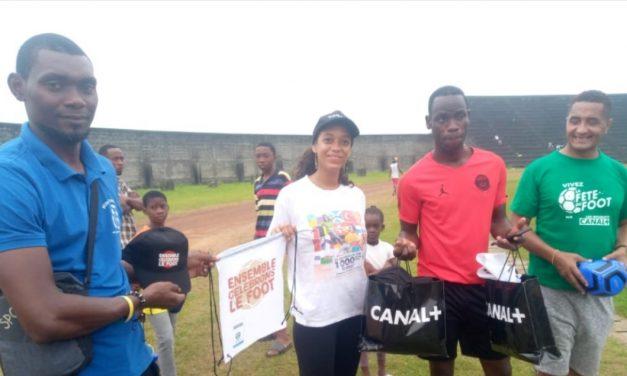 Gabon-Football amateur: Canal+ Gabon offre des kits Canal au Jardin de football du Gabon