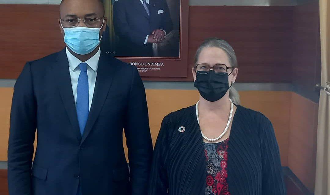 Gabon: Dr Savina Ammassari, Coordonnatrice résidente du Système des Nations unies, reçu par le ministre Guy Patrick Obiang