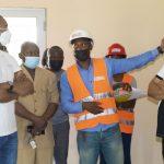 Gabon/Visite des Travaux de Finitions de L'hôpital Départemental de MOANDA: Dr Guy Patrick Obiang sur le terrain